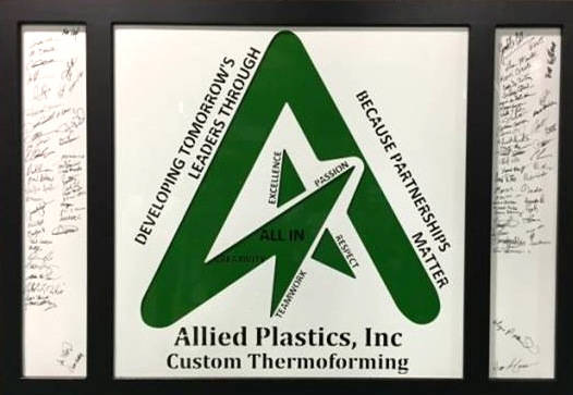 Thermoformer Allied Plastics Employee Excellence All IN Program