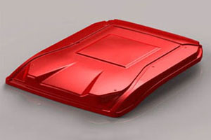 Thermoformed Tractor Cab Hood Design for Ventrac