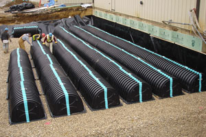 Thermoformed Fire Suppression Tanks for Cultec