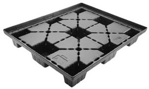 Standard Nine Leg Vacuum Formed Plastic Pallet — Allied Plastics Custom Thermoforming