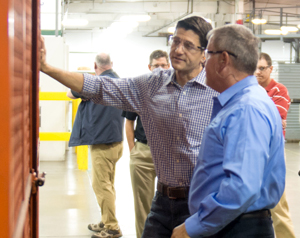 Paul Ryan visits Allied Plastics Custom Thermoforming