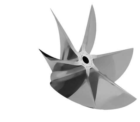 Mercury Racing Sterndrive Six-blade CNC Cleaver Propeller