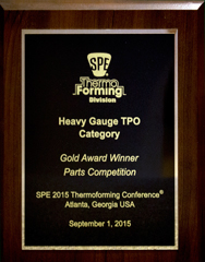 Allied Plastics Awarded Gold in the Heavy-Gauge Thermoplastic Olefin (TPO) Category