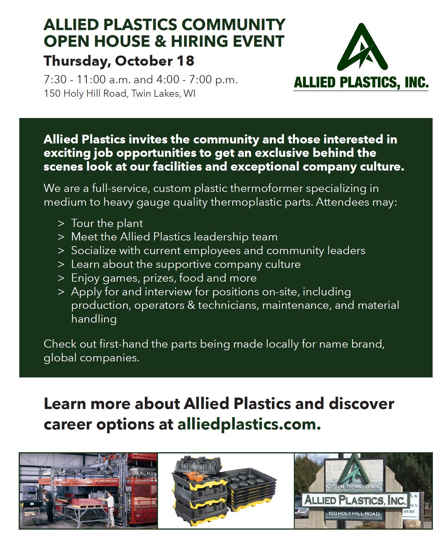 Thermoforming Plastic Manufacturing Careers – Allied Plastics