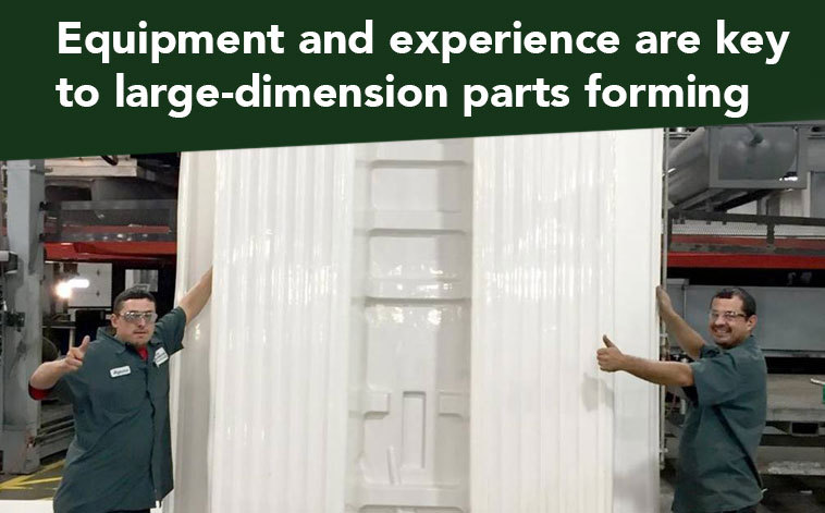 Equipment and experience are key to large-dimension parts forming