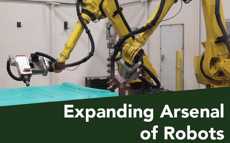 Expanding arsenal of robots helps reduce lead times