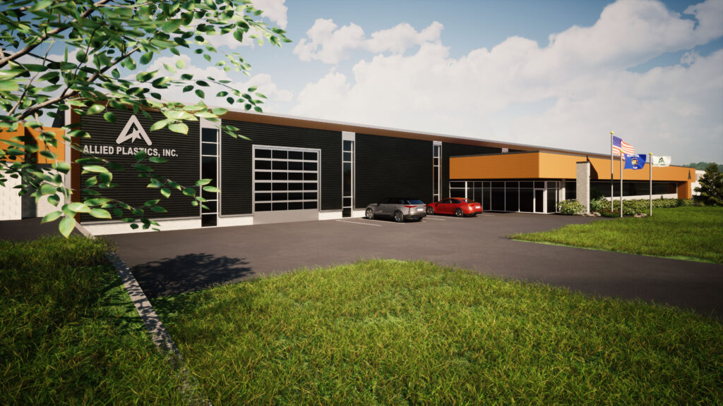Rendering of Allied Plastics new expansion project