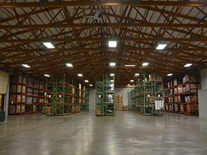 Interior warehouse area of 2011 Allied Plastics Addition